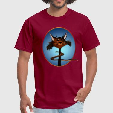 Brown Stripes Stlylin' Brown Cat Face - Men's T-Shirt