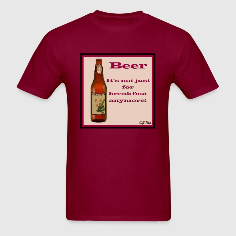 Beer - It's Not Just For Breakfast Anymore - logo - Men's T-Shirt