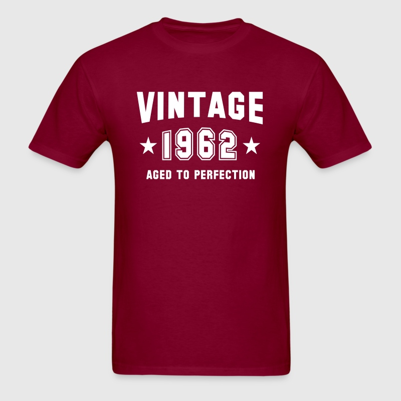 VINTAGE 1962 - Aged To Perfection - Birthday - Men's T-Shirt