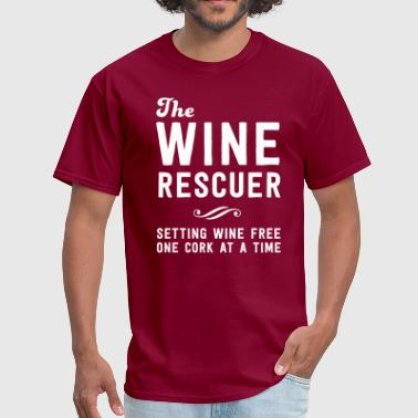 Drink Wine The Wine rescuer. Setting wine free one cork - Men's T-Shirt
