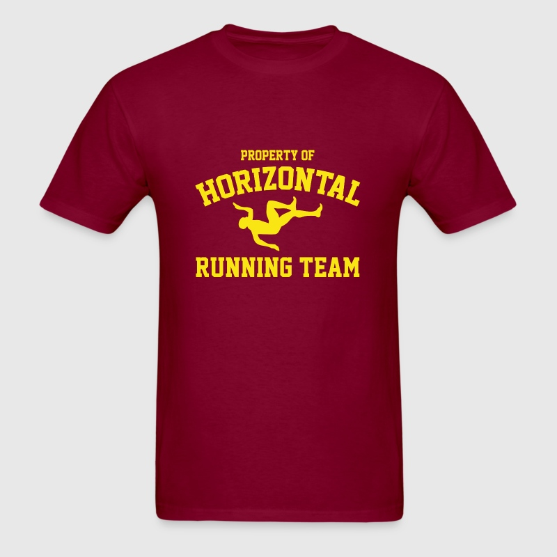 Property Of Horizontal Running Team - Men's T-Shirt