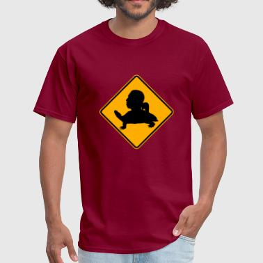 Bad Turtle Tortuga head road sign - Men's T-Shirt