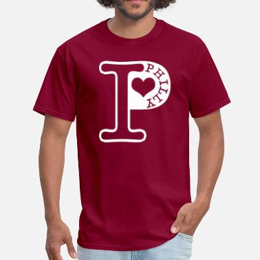 Heart Philly Love Philly - Men's T-Shirt