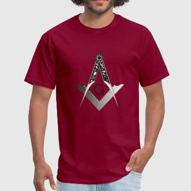Blue Lodge & Masonic Square and Compass - Men's T-Shirt