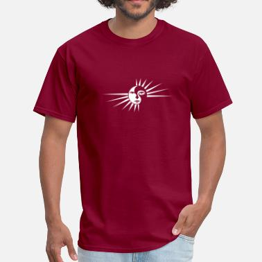 Burgundy SUN Burgundy - Men's T-Shirt