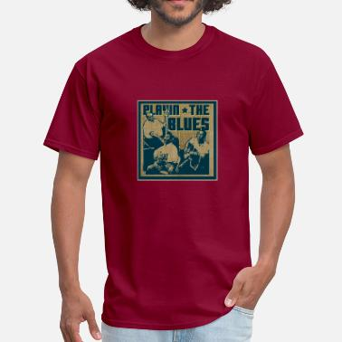 Blues playin' the blues - Men's T-Shirt