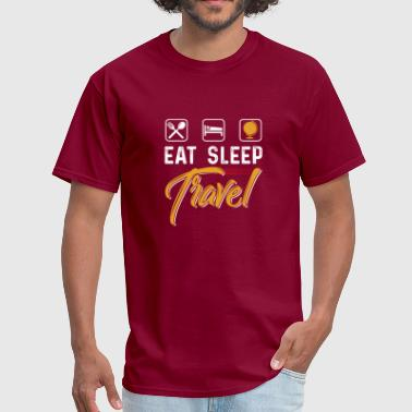 Pussy Places Eat Sleep Travel - Men's T-Shirt