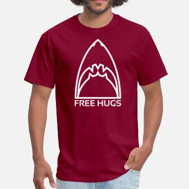 Fin Free Shark ? Free Hugs - Men's T-Shirt