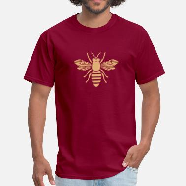 Honey Bee bee i love honey bumble bee honeycomb beekeeper wasp sting busy insect wings wildlife animal - Men's T-Shirt