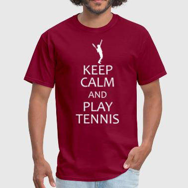 keep calm and play tennis - Men's T-Shirt