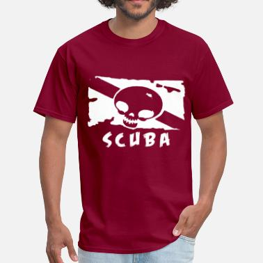 Rebreather scuba_diving_air_tank_logo - Men's T-Shirt
