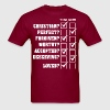 Christian Perfect Forgiven Worthy Accepted - Men's T-Shirt