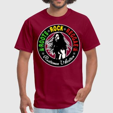 roots rock reggae rastaman vibration - Men's T-Shirt