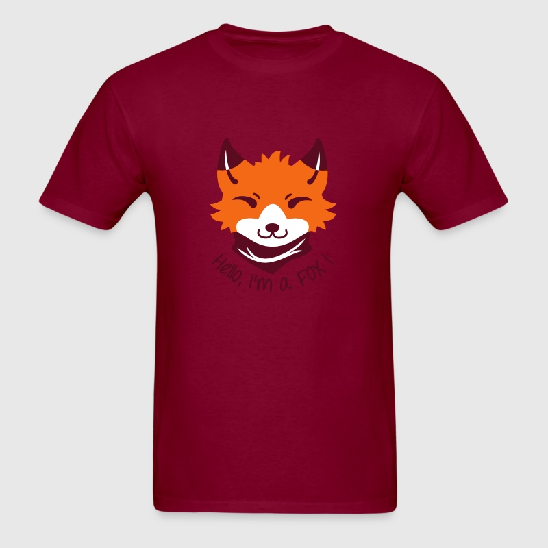Chibi FOX with Types - Men's T-Shirt
