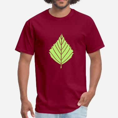 Blossom outline birch leaf tree plant shape clip art desig - Men's T-Shirt