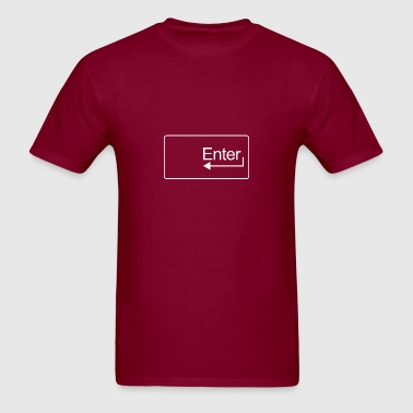 Enter Key (White) - Men's T-Shirt