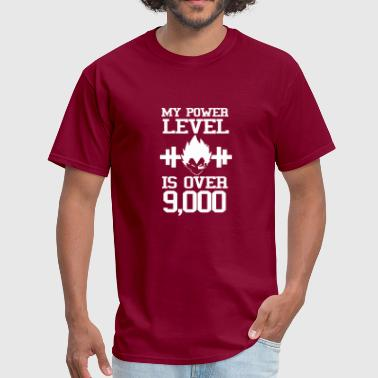 Leverkusen My Power Lever Is Over 9000 Vegeta Goku Dragon Bal - Men's T-Shirt