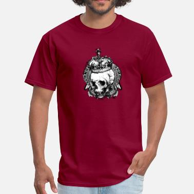 Crowned Skull Crown with Skull - Men's T-Shirt