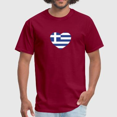 Greek heart - Men's T-Shirt