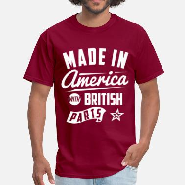 Made In Usa With British Parts American British - Men's T-Shirt