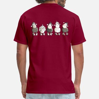 Sheep Funny Sheep  - Men's T-Shirt