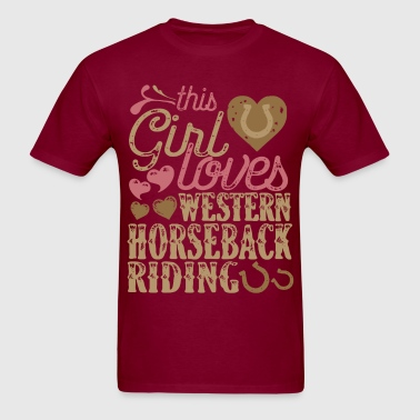 Horse Western Horseback Riding Horses - Men's T-Shirt