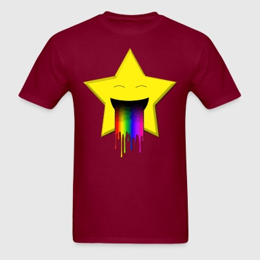 Cute star vomiting a rainbow - Men's T-Shirt
