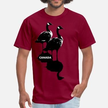 Canadian Wildlife Canada Goose Souvenir Cool Canada Art Gifts - Men's T-Shirt