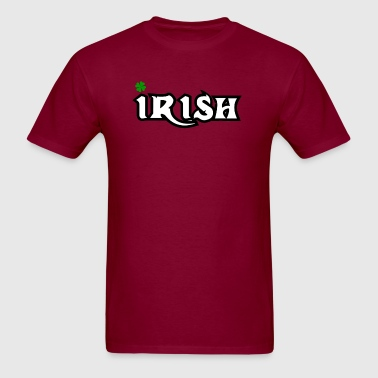 Irish Clover font design - Men's T-Shirt