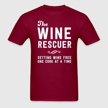 The Wine rescuer. Setting wine free one cork - Men's T-Shirt