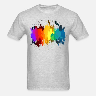 bf8d542b Rainbow Paint Splatter Men's Premium T-Shirt | Spreadshirt