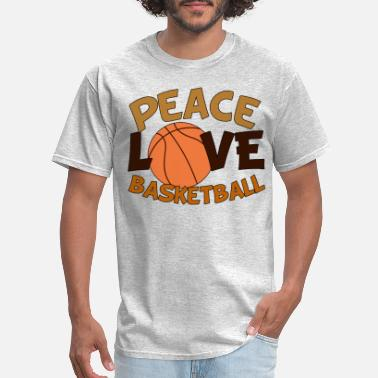 Peace Love And Basketball Peace Love Basketball - Men's T-Shirt