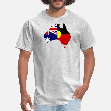 Aboriginal Flag Australian Aboriginal flag map - Men's T-Shirt