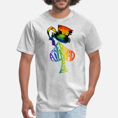 Alice Alice in Wonderland | Were All Mad Here | Mad Hatter | LGBT Rainbow - Men's T-Shirt