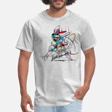 Abstract Martial Arts Bunny - Men's T-Shirt