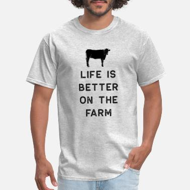 Farm Farming Shirt Life Is Better On The Farm Black Cute Gift Farm Country USA - Men's T-Shirt