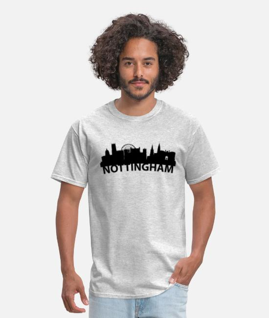 Nottingham T-Shirts - Arc Skyline Of Nottingham England - Men's T-Shirt heather gray