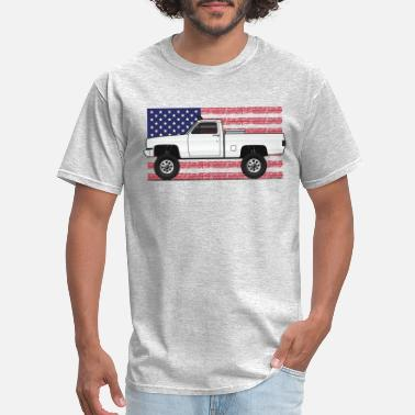 Square 4x4Usa truck - Men's T-Shirt