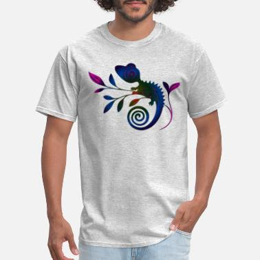 Twig EDM NEON GECKO ON TWIG - Men's T-Shirt