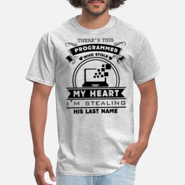 Programmer Heart Programmer Who Stole My Heart Shirt - Men's T-Shirt