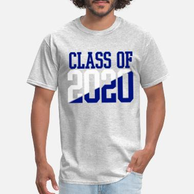 Class CLASS OF 2020 WHITE AND BLUE - Men's T-Shirt