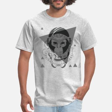 Dope Space Grey Monkey in Space - Men's T-Shirt