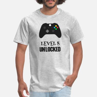 Level Birthday Celebration Level 8 Unlocked, VideoGame - Men's T-Shirt