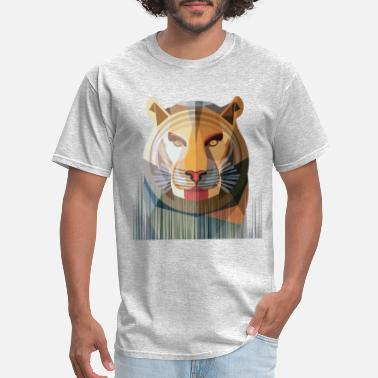 Comic Strips stripped tiger - Men's T-Shirt