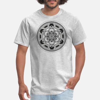 Geometry METATRONS CUBE sacred geometry flower of life yoga - Men's T-Shirt