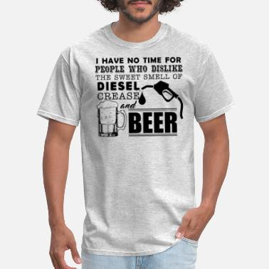 Beer Mechanic Mechanic Smell Of Diesel Crease And Beer Shirt - Men's T-Shirt