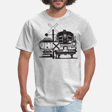 Locomotive Vintage Train Locomotive - Men's T-Shirt