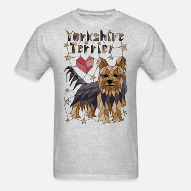 Silky Terrier Cool Tshirt Silky Terrier Geometric Colorful Tee Shirt Design for Men and Women