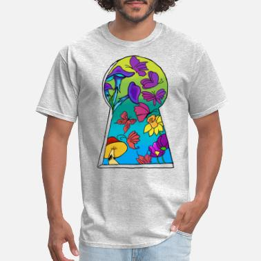 Otherworldly Keyhole to a new location - Men's T-Shirt