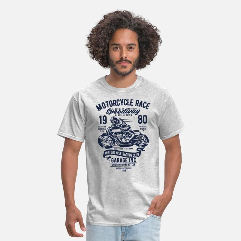 Motorcycle T-Shirts - Motorcycles Race Speedway Classic Racing - Men's T-Shirt heather gray